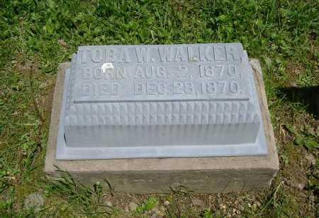 WALKER, TOBA W. - Hocking County, Ohio   TOBA W. WALKER - Ohio Gravestone Photos