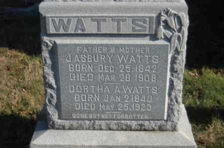 WATTS, J. ASBURY - Hocking County, Ohio | J. ASBURY WATTS - Ohio Gravestone Photos