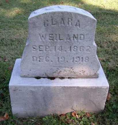 WEILAND, CLARA - Hocking County, Ohio | CLARA WEILAND - Ohio Gravestone Photos