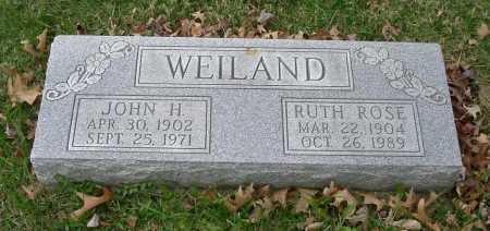 WEILAND, JOHN H. - Hocking County, Ohio | JOHN H. WEILAND - Ohio Gravestone Photos