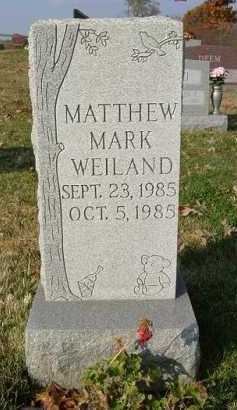 WEILAND, MATTHEW MARK - Hocking County, Ohio   MATTHEW MARK WEILAND - Ohio Gravestone Photos