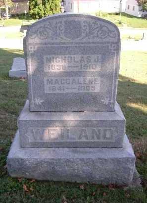 RUNSER WEILAND, MAGDALENE - Hocking County, Ohio | MAGDALENE RUNSER WEILAND - Ohio Gravestone Photos