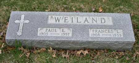 WEILAND, FRANCES L. - Hocking County, Ohio | FRANCES L. WEILAND - Ohio Gravestone Photos
