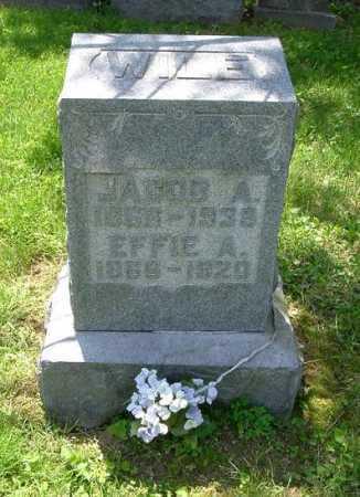 WILE, JACOB A. - Hocking County, Ohio   JACOB A. WILE - Ohio Gravestone Photos