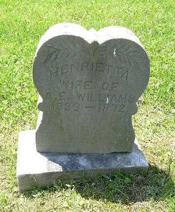 WILLIAMS, HENRIETTA - Hocking County, Ohio | HENRIETTA WILLIAMS - Ohio Gravestone Photos
