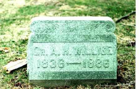 WILLIGE, DR. AUGUSTUS HEINRICH WILHELM - Hocking County, Ohio   DR. AUGUSTUS HEINRICH WILHELM WILLIGE - Ohio Gravestone Photos