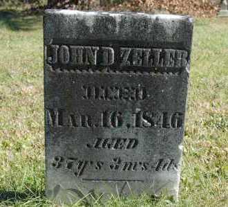 ZELLER, JOHN D - Hocking County, Ohio | JOHN D ZELLER - Ohio Gravestone Photos