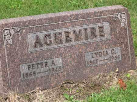 ACHMIRE, LYDIA G. - Holmes County, Ohio | LYDIA G. ACHMIRE - Ohio Gravestone Photos