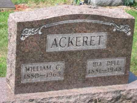 ACKERET, WILLIAM C. - Holmes County, Ohio | WILLIAM C. ACKERET - Ohio Gravestone Photos