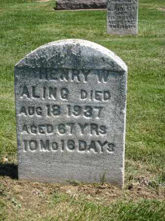 ALING, HENRY W. - Holmes County, Ohio | HENRY W. ALING - Ohio Gravestone Photos