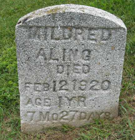 ALING, MILDRED - Holmes County, Ohio | MILDRED ALING - Ohio Gravestone Photos