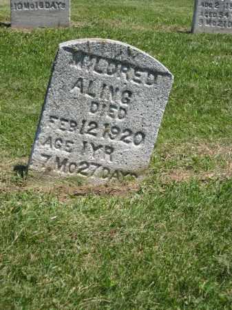 ALING, MILDRED - Holmes County, Ohio   MILDRED ALING - Ohio Gravestone Photos