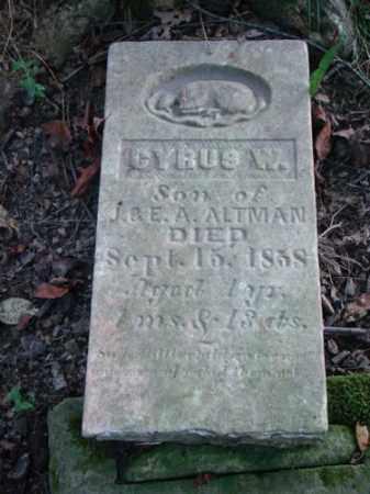 ALTMAN, CYRUS W. - Holmes County, Ohio | CYRUS W. ALTMAN - Ohio Gravestone Photos