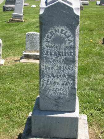 AXLINE MONUMENT, PERMELIA - Holmes County, Ohio   PERMELIA AXLINE MONUMENT - Ohio Gravestone Photos
