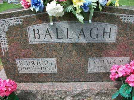 BALLAGH, K. DWIGHT - Holmes County, Ohio | K. DWIGHT BALLAGH - Ohio Gravestone Photos