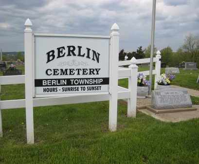 BERLIN TOWNSHIP CEMETERY, SIGN - Holmes County, Ohio   SIGN BERLIN TOWNSHIP CEMETERY - Ohio Gravestone Photos