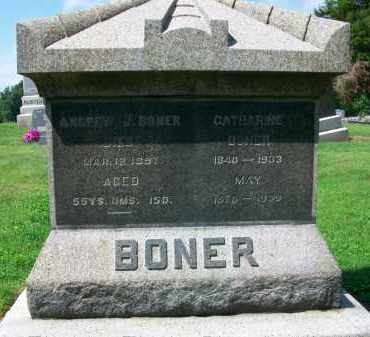 BONER, CATHARINE - Holmes County, Ohio | CATHARINE BONER - Ohio Gravestone Photos