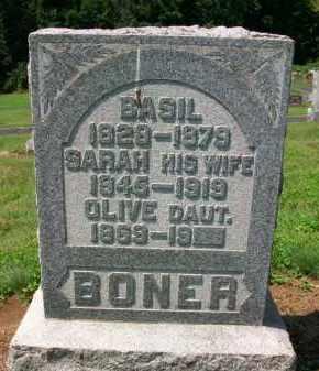 BONER, OLIVE - Holmes County, Ohio   OLIVE BONER - Ohio Gravestone Photos