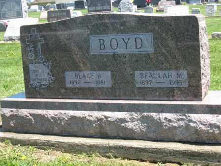 BOYD, BEAULAH M. - Holmes County, Ohio | BEAULAH M. BOYD - Ohio Gravestone Photos