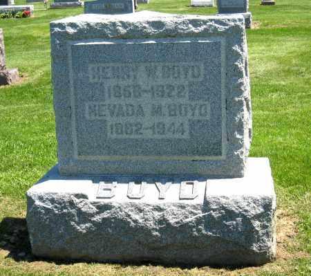 BOYD, NEVADA M - Holmes County, Ohio | NEVADA M BOYD - Ohio Gravestone Photos