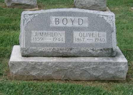 BOYD, J MAHLON - Holmes County, Ohio | J MAHLON BOYD - Ohio Gravestone Photos