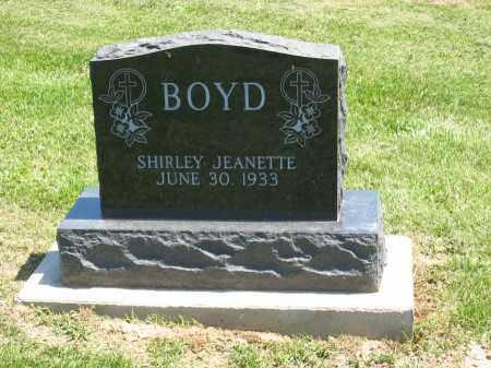 BOYD, SHIRLEY JEANETTE - Holmes County, Ohio | SHIRLEY JEANETTE BOYD - Ohio Gravestone Photos