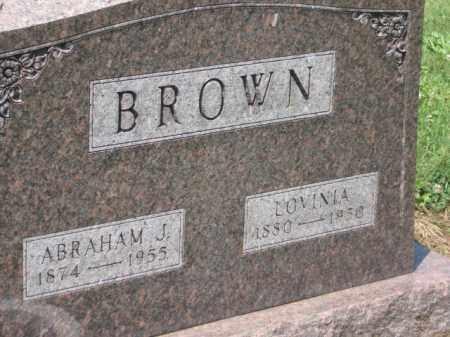BROWN, LOVINIA - Holmes County, Ohio | LOVINIA BROWN - Ohio Gravestone Photos