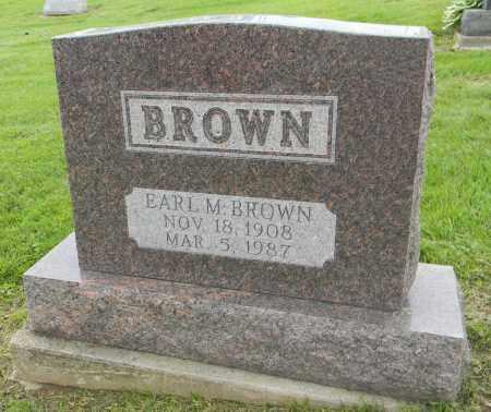 BROWN, EARL M - Holmes County, Ohio | EARL M BROWN - Ohio Gravestone Photos