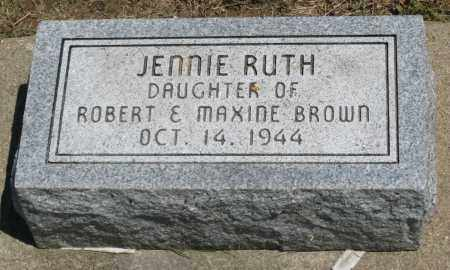 BROWN, JENNIE RUTH - Holmes County, Ohio | JENNIE RUTH BROWN - Ohio Gravestone Photos