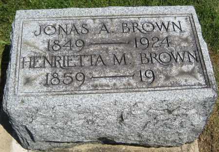 BROWN, JONAS A. - Holmes County, Ohio | JONAS A. BROWN - Ohio Gravestone Photos
