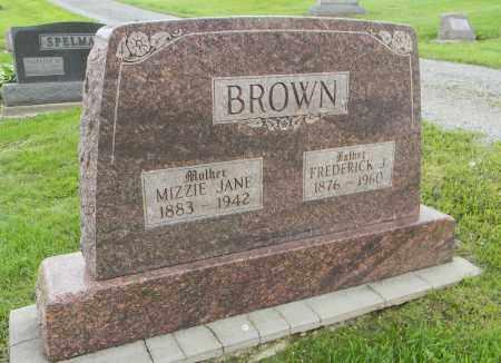 BROWN, MIZZIE JANE - Holmes County, Ohio | MIZZIE JANE BROWN - Ohio Gravestone Photos