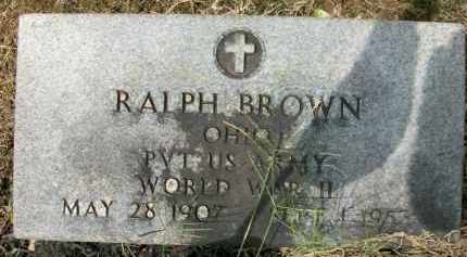 BROWN, RALPH - Holmes County, Ohio | RALPH BROWN - Ohio Gravestone Photos