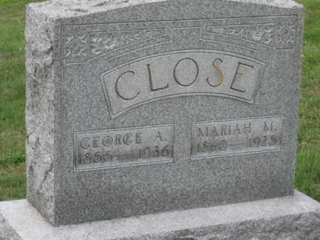 CLOSE, MARIAH M. - Holmes County, Ohio | MARIAH M. CLOSE - Ohio Gravestone Photos