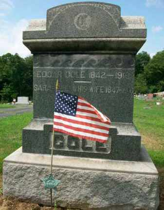 COLE, EDGAR M.D. - Holmes County, Ohio | EDGAR M.D. COLE - Ohio Gravestone Photos