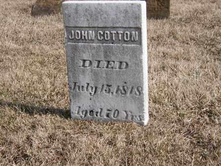 COTTON, JOHN - Holmes County, Ohio | JOHN COTTON - Ohio Gravestone Photos