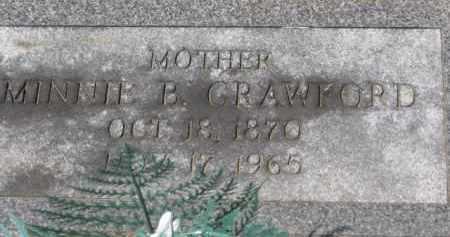 CRAWFORD, MINNIE B. - Holmes County, Ohio | MINNIE B. CRAWFORD - Ohio Gravestone Photos