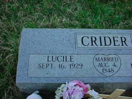 CRIDER, LUCILE - Holmes County, Ohio | LUCILE CRIDER - Ohio Gravestone Photos