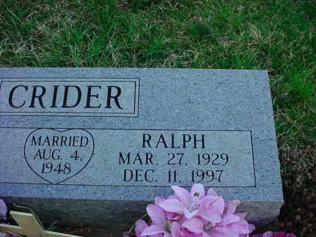 CRIDER, RALPH - Holmes County, Ohio   RALPH CRIDER - Ohio Gravestone Photos