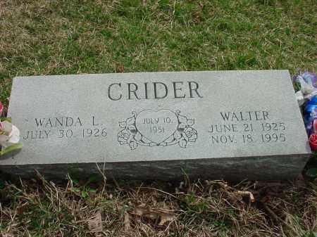 CRIDER, WALTER - Holmes County, Ohio   WALTER CRIDER - Ohio Gravestone Photos
