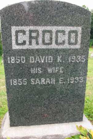 CROCO, DAVID K. - Holmes County, Ohio | DAVID K. CROCO - Ohio Gravestone Photos