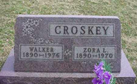 CROSKEY, ZORA L - Holmes County, Ohio | ZORA L CROSKEY - Ohio Gravestone Photos