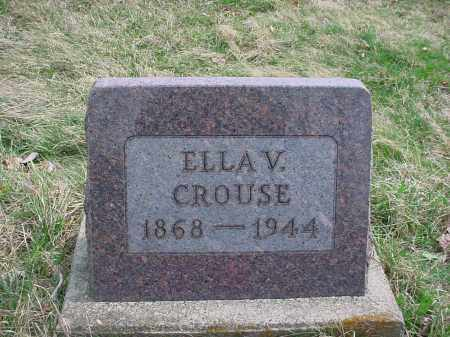 CROUSE, ELLA V. - Holmes County, Ohio | ELLA V. CROUSE - Ohio Gravestone Photos