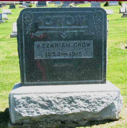 CROW, AZZARIAH - Holmes County, Ohio | AZZARIAH CROW - Ohio Gravestone Photos