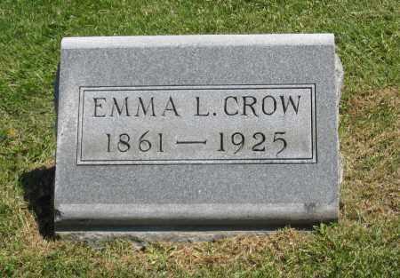 CROW, EMMA L. - Holmes County, Ohio   EMMA L. CROW - Ohio Gravestone Photos