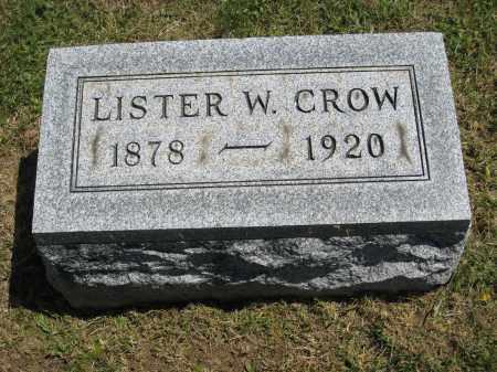 CROW, LISTER W. - Holmes County, Ohio | LISTER W. CROW - Ohio Gravestone Photos