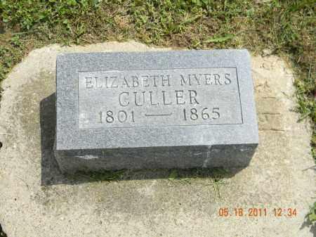 MYERS CULLER, ELIZABETH - Holmes County, Ohio | ELIZABETH MYERS CULLER - Ohio Gravestone Photos