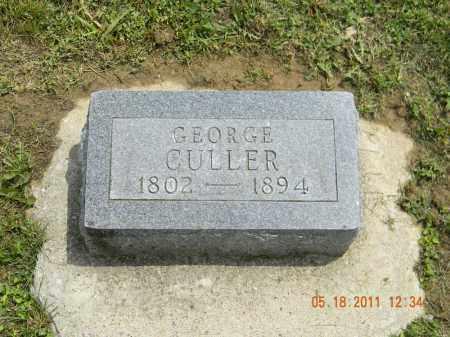 CULLER, GEORGE - Holmes County, Ohio   GEORGE CULLER - Ohio Gravestone Photos