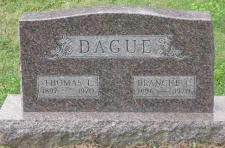DAGUE, BLANCHE C. - Holmes County, Ohio   BLANCHE C. DAGUE - Ohio Gravestone Photos