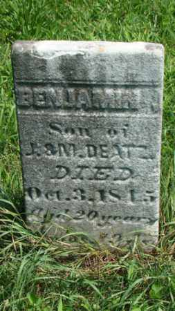 DEATZ, BENJAMIN - Holmes County, Ohio | BENJAMIN DEATZ - Ohio Gravestone Photos