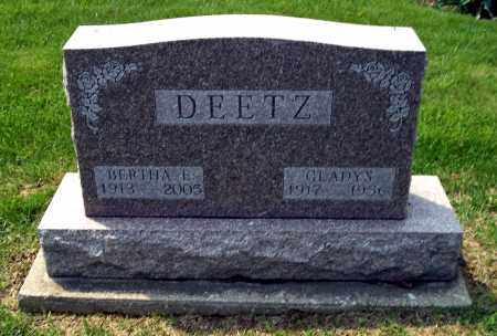 DEETZ, BERTHA E - Holmes County, Ohio | BERTHA E DEETZ - Ohio Gravestone Photos